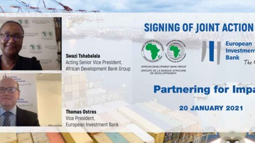 African Development Bank European Investment Bank Sign Joint Partnership Action Plan To Fast Track Development In Africa 500x280