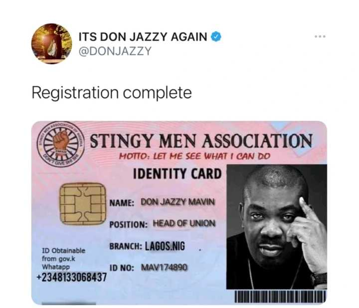 Its Not For Bosses Like You Reactions As Don Jazzy Starts Association For Stingy Men In Nigeria Photo 1