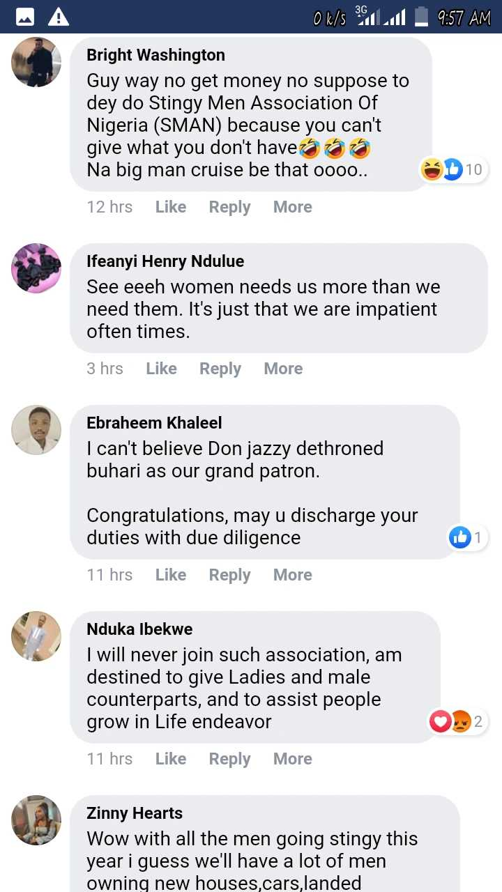 Its Not For Bosses Like You Reactions As Don Jazzy Starts Association For Stingy Men In Nigeria Photo 15