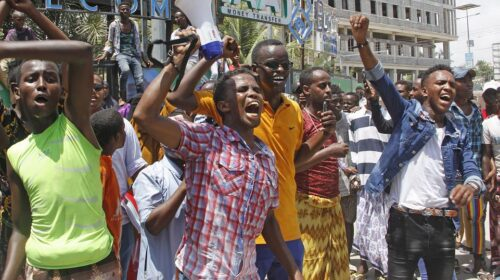 Somalia Protests In Mogadishu District Following The Killing Of Top Commissioner 1 500x280